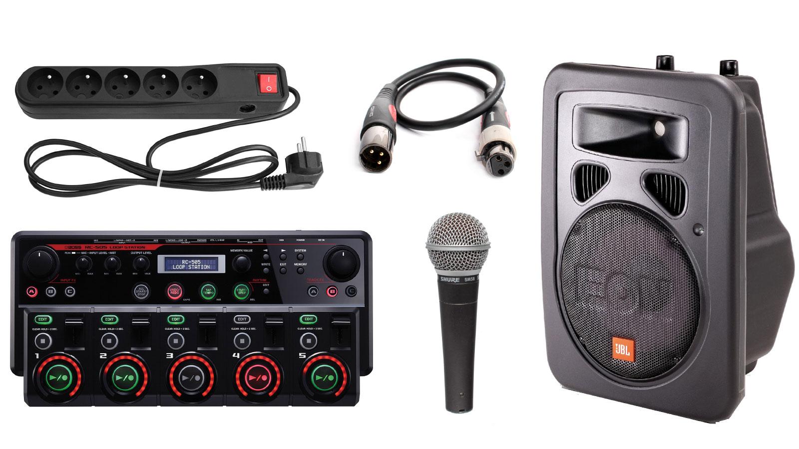 Mikrofony, głośnik i looper to sprzęt na warsztaty beatbox
